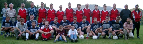 Spiel auf dem neuen Trainingsplatz: 1. Mannschaft und AH, 10.9.2004