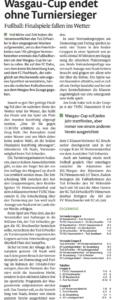 Bericht PZ Wasgau-Cup