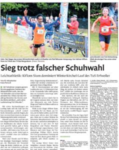 Bericht PZ Winterkirchel-Lauf