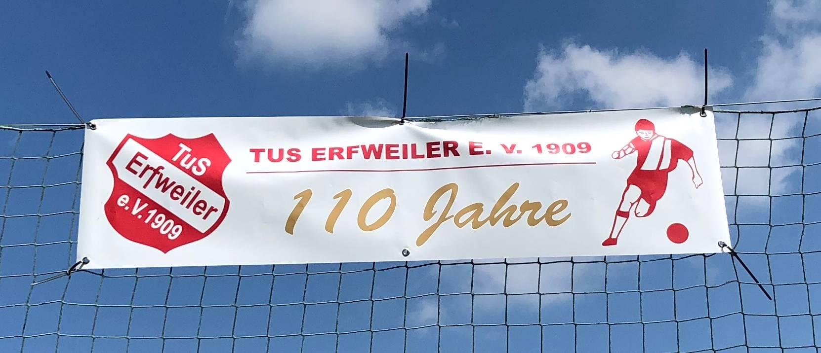 Banner Sportgelände 110 Jahre