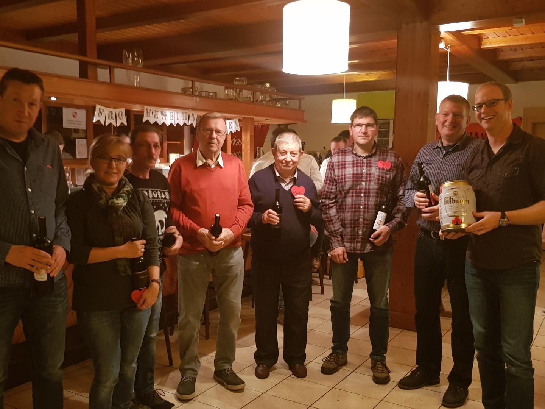 Ehrung Helfer Uwe, Kerstin, Rainer, Berthold, Meinhold, Jan, Frank, Pat