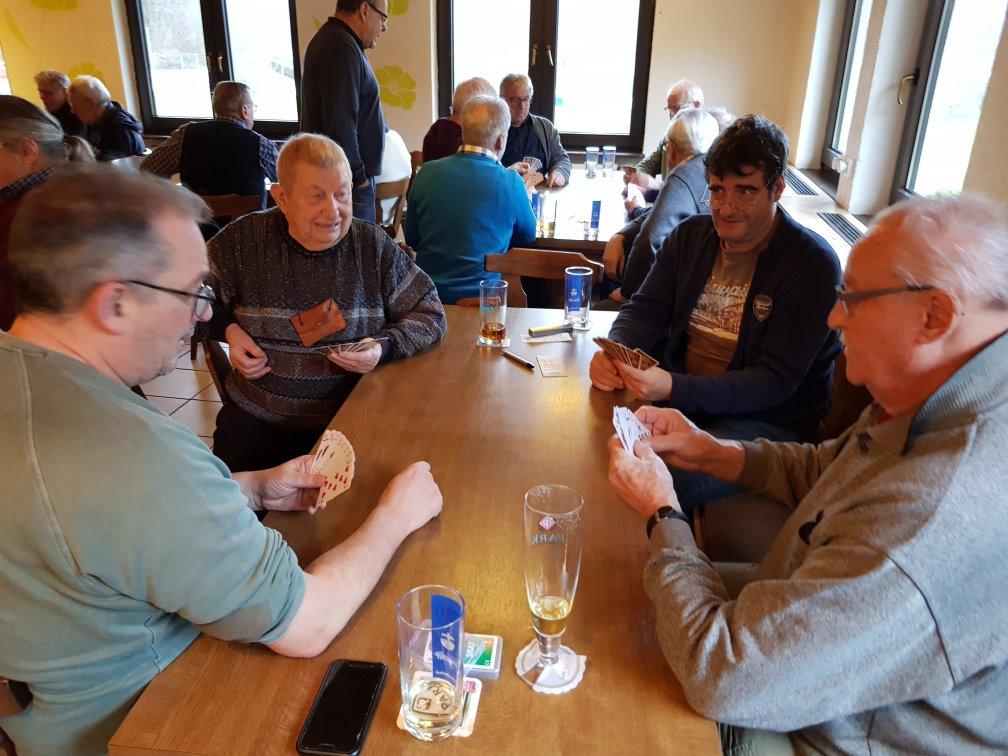 Vorrunde Gruppe 4: Achim, Meinhold, Gerd und Rolf