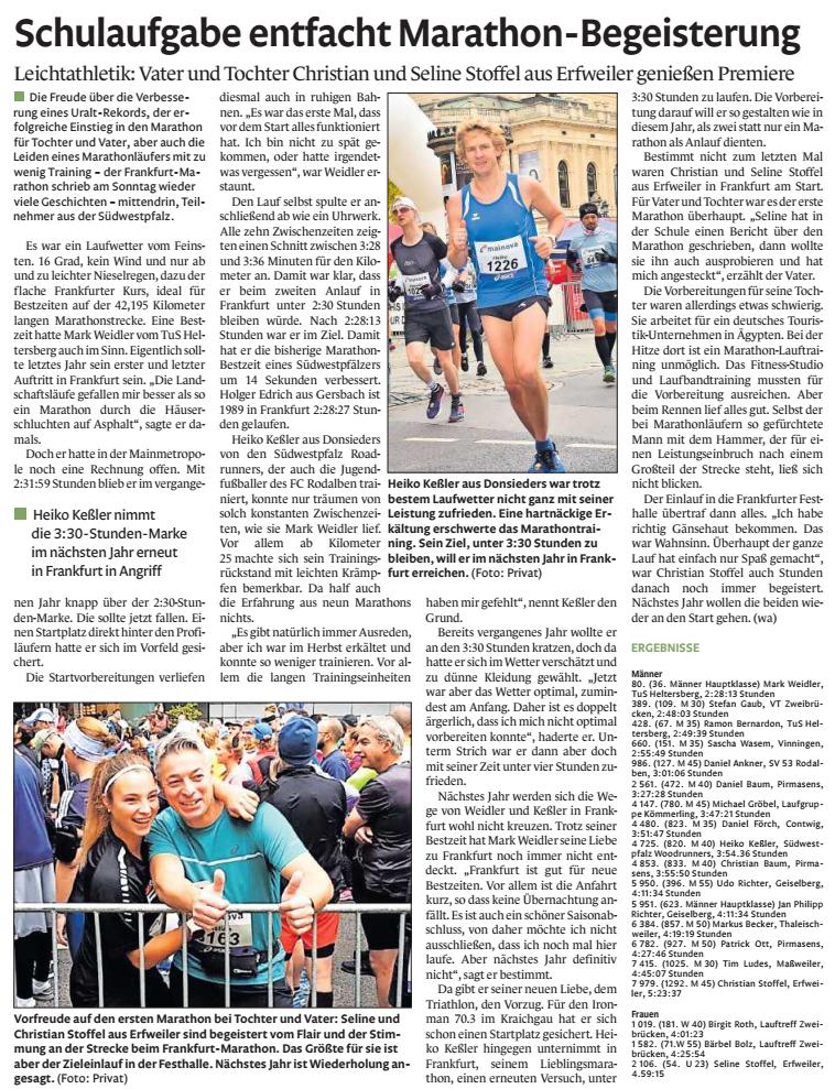 Marathon Frankfurt 2019